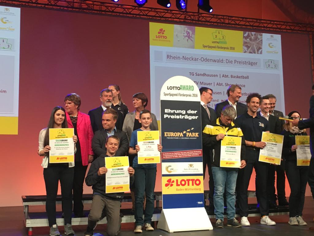 "Basketball – Erneute Sieger beim ""Lotto Sportjugend-Förderpreis""…!!!"